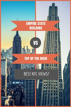 Empire State Building vs Top of the Rock - which has the best views of NYC? Plus use @citypass to visit BOTH attractions plus many more awesome spots in New York City!