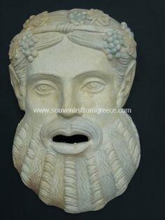 Dionysos plaster greek mask Greek statues Greek masks