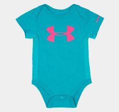 Girls' Newborn UA Big Logo Bodysuit | 1248005 | Under Armour US (for baby)