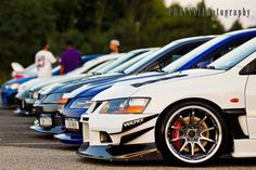 Mitsubishi Lancer Evolution badass group :)