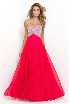2015 Sweetheart A-Line/Princess Prom Dress Beaded Bodice Chiffon