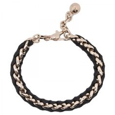 Rebecca Chain& Leather Bracelet by Chloe #Bracelet #Chloe
