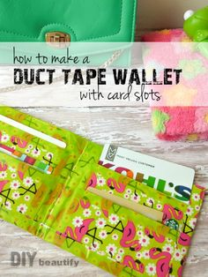 Duct Tape Wallet detailed tutorial | DIY beautify