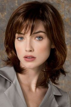 Wear this shoulder length wig to give you a fresh look. Casino More by Ellen Wille Wigs features a monofilament wig cap with a lace top for a natural hairline. Haircut Styles For Women, Short Haircut Styles, Short Hairstyles For Women, Hairstyles With Bangs, Casual Hairstyles, Medium Hair Cuts, Long Hair Cuts, Medium Hair Styles, Curly Hair Styles