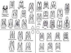 Suit jacket styles to flatter all body shapes. #personalstylist #stylisttips