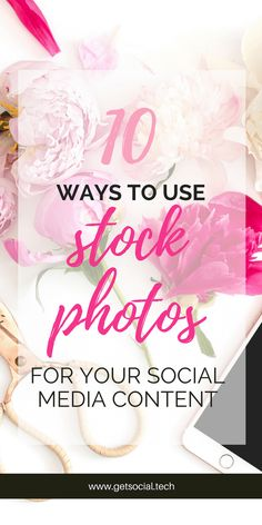 10 Ways to to Use Stock Photos for Your Social Media Content In today's post, I am going to share a bunch of ideas on how to use stock photos to up your visual branding game in no time flat!