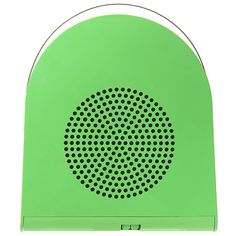 Phono Boy 45 by Mario Bellini. Germany  1969  A green portable 45 record player with built in retractable handle. Designed by Mario Bellini made By Grundig.