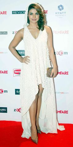 Priyanka Chopra at Filmfare Awards pre-awards bash. #Bollywood #Fashion #Style…