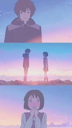 Your Name Wallpaper, Cute Anime Wallpaper, Otaku Anime, Anime Art, Mitsuha And Taki, Kimi No Na Wa Wallpaper, Anime Bebe, Your Name Anime, Japon Illustration