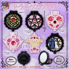 . *NEW item* Sailor Moon Gacha Stained Mirrors✨💜 These are so pretty inspired by Anna Sui?! Will be released in mid-January 2017 ¥300 each! 💎