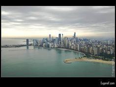 Chicago Skyline #Aerials #freewallpapers