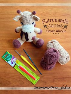 Agujas Clover Amour para amigurumi + patrón de jirafa amigurumi de Little Muggles (enlaces en comentario)