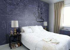 What explorer wouldn't love this wallpaper? Writers - Thinking in ink | Mr Perswall Belgium (Dutch)