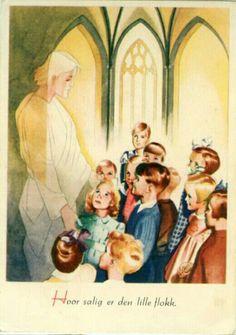 Julekort Jørgen Thorsrud religiøst motiv 1950-tallet Norway, Mona Lisa, Christmas Postcards, Artwork, Painting, Work Of Art, Auguste Rodin Artwork, Painting Art, Artworks