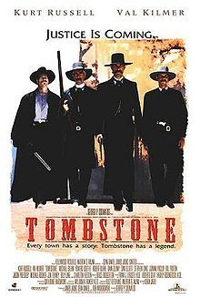 A great Tombstone movie poster! Kurt Russell, Val Kilmer, Sam Elliott, and Bill Paxton star as Wyatt Earp and his posse! Justice is coming. Need Poster Mounts. Stephen Lang, Val Kilmer, Sam Elliott, Michael Rooker, Wyatt Earp, Cinema Tv, Films Cinema, Tombstone Arizona, Animation Movies