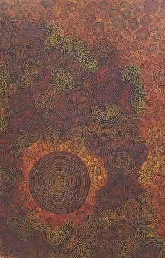 Another fantastic piece of Australian Aboriginal Art by Sarrita King / Waterholes is the title of the work. Click on the artwork to view more details and lots more incredible artworks from these amazingly talented artists. Thank you and please feel free to visit us online, or for real if you are ever in Kununurra