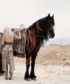 stormbornvalkyrie: ♕ They rode by night, and by day took refuge from the sun beneath their tents. Soon enough Dany learned the truth of Doreah's words. This was no kindly country.