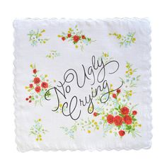 Fake Tears Floral Handkerchief Placement of design and consistency of print may vary. Bridesmaid Makeup Bag, Bridesmaids, Lace Bag, Matron Of Honour, Vintage Handkerchiefs, Hot Flashes, Wedding Keepsakes, Small Gifts, Mother Of The Bride