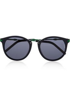 KENZO Round-frame acetate and metal sunglasses | I have a square shape face that will fit these perfectly!