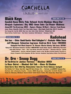 The long awaited #Coachella lineup has been announced! We'll be there scoping out all of the festival-going fashionistas! Are you going?