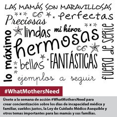 #WhatMothersNeed
