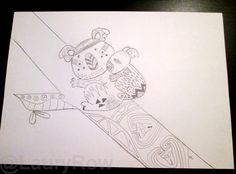 """My drawing """"family koala zentangle"""" characters by @LauryRow  like page facebook here :: https://www.facebook.com/merveillesdetentesdelaury"""