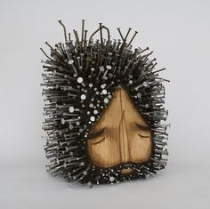 Figurative Found Wood Sculptures Pierced with Hundreds of Nails by Jaime Molina   Colossal