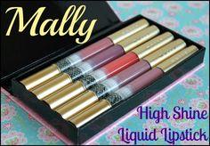 Mally Slimline High Shine Liquid Lipstick 5 Piece Set - Pictures ... Mally Cosmetics, Lipstick Pictures, Liquid Lipstick Set, Lip Gloss, Swatch, Beauty, Glitter Lips, Cosmetology, Gloss Lipstick