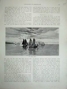 Antique print 1886 view #pearl #fleet ships sailing #australia sunlight 115e130,  View more on the LINK: 	http://www.zeppy.io/product/gb/2/351959069141/