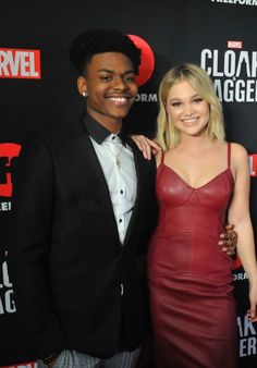 "Olivia Holt and Aubrey Joseph - ""Cloak & Dagger"" Premiere at the 2018 SXSW Cloak And Dagger Art, Aubrey Joseph, Celebrity Crush, Celebrity Style, Blond, Waffles, Pancakes, Dorothy Parker, Celebration Gif"