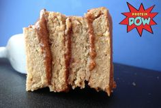 = PROTEIN POW(D)ER !: Almond Butter Layered Apple & Banana Protein Cake