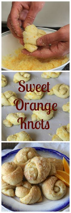 Sweet Orange Knots | Brittany's Pantry - Four ingredients is all it takes and they are perfect for Easter Brunch!