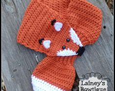Gray Fox Hand Knit scarf /neck warmer One size fits most Made with acrylic yarn. The scarf is very cute warm and nice Size:Kids length: width: Size : Adult length: 28 ~ 30 width: Machine or hand wash in cold, lay flat to dry. Crochet Owl Hat, Crochet Beanie Pattern, Crochet Scarves, Crochet Shawl, Crochet Crafts, Crochet Baby, Crochet Projects, Knit Crochet, Fox Scarf