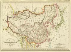 """mapsontheweb: """" An 1833 French Map of Qing China and Japan """""""