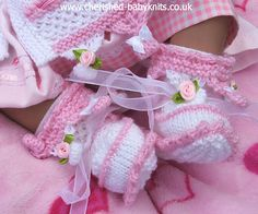 Ravelry: Rosie Ribbons Matinee Set pattern by Cherished Baby Knits