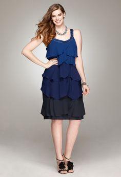 Beaded Ruffle Tier Dress. plus size, great price
