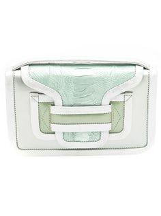 metallic trim handbag
