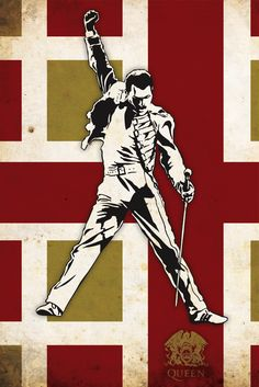 Queen Poster-Oh how I miss Freddie Mercury............