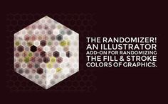 The Randomizer, a new #addon for #adobeillustrator, randomly applies #swatches to your graphics. Follow the link in my profile for more info. #color #palette #plugin #extension #Adobe #Illustrator