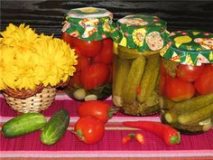 Маринад  для помидор  и огурцов в мультиварке рецепт с фотографиями