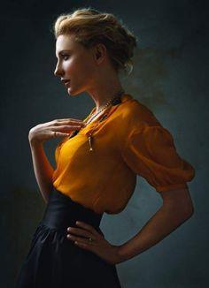 Cate Blanchett ~ Photo by Annie Leibovitz I think something lie_袁婕 - 美丽鸟