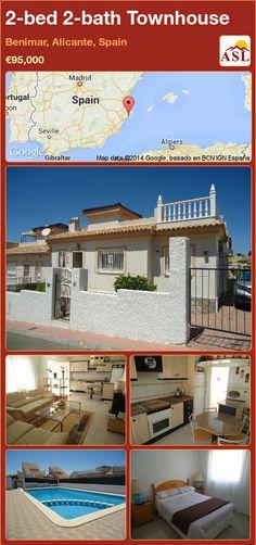 2-bed 2-bath Townhouse in Benimar, Alicante, Spain ►€95,000 #PropertyForSaleInSpain