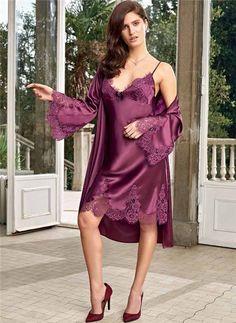 Lingerie robe ecru dentelle Mini-robe Lingerie De Nuit Chemise Nuit Robe S M L XL XXL