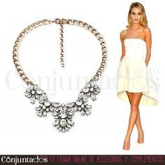 Tanto para una cena como para la oficina, con el #collar Agatha irás sensacional ★ 12,95 € en https://www.conjuntados.com/es/collar-de-cristales-transparentes.html ★ #novedades #necklace #conjuntados #conjuntada #joyitas #lowcost #jewelry #bisutería #bijoux #accesorios #complementos #moda #fashion #fashionadicct #picoftheday #outfit #estilo #style #GustosParaTodas #ParaTodosLosGustos