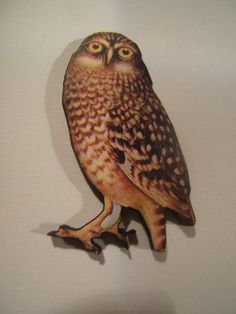 Wood owl brooch jewelry accessory by jenuineserendipity on Etsy, $9.50