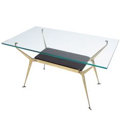 Gio Ponti Attributed Coffee Table, Italy 1950's | From a unique collection of antique and modern coffee and cocktail tables at http://www.1stdibs.com/furniture/tables/coffee-tables-cocktail-tables/