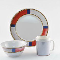 Decorated Life Preserver 12 Piece Dinnerware Gift Set
