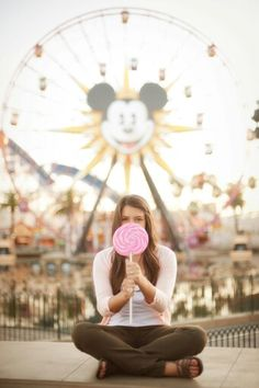 Senior portrait ideas at disneyland