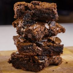 #delicious Chewy Fudgy Chocolate Oreo Brownies #foodie