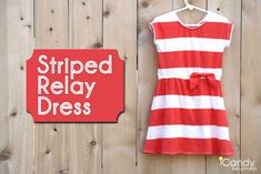 icandy handmade: (tutorial and pattern) JCrew Knockoff: Stripe Relay Dress Size 5 pattern Sewing Kids Clothes, Sewing For Kids, Free Sewing, Little Girl Dress Patterns, Little Girl Dresses, Girls Dresses, Diy Clothing, Clothing Patterns, Sewing Patterns